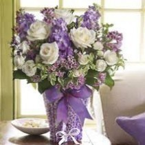 Purple and White Bunch