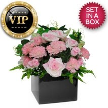 VIP Roses And Carnations Arrangement