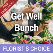 Florist's Choice Get Well Bunch With Free Chocolates