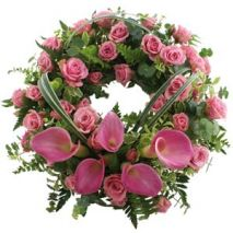 Wreath With Pink Tones