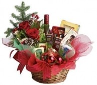 Ultimate Christmas Basket Flowers
