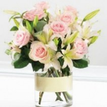 Pastel Pink Lily and Rose Bunch