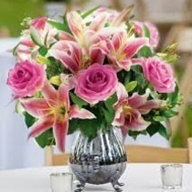 Pink Rose and Lily Bunch