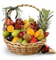 Gift Hamper Filled with Seasonal Fruit