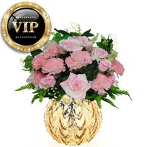 VIP Roses And Carnations Bunch