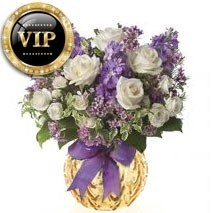 VIP Purple And White Bunch