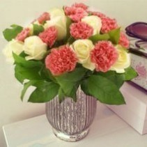Pink and White Rose Bunch