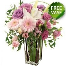 Pastel Bunch With Free Vase